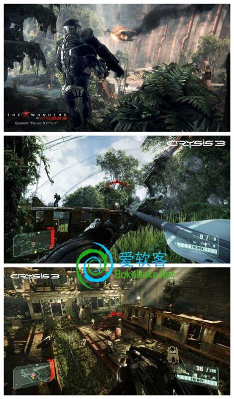 顶级射击游戏:《孤岛危机3》中文完整硬盘版下载+破解补丁 | 爱软客